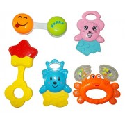New Born Baby Boy / Girl Infant Toddler Babies Toys Rattle Plush Rings Sets with Teether Cartoon Shape Sweet Cuddle Colorful Set Pleasant to Baby Eyes Non Toxic Durable Quality Baby's First Gift (6+ Months) Type 3
