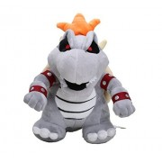 "Super Mario Plush 9"" / 23cm Gray King Bowser Koopa Doll Stuffed Animals Figure Soft Anime Collection Toy"