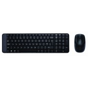 Kit tastatura+mouse Logitech Wireless Desktop MK220, negru