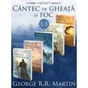 Pachet Seria Cantec de gheata si foc vol.1-5 - George R.R. Martin