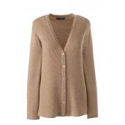 ランズエンド LANDS' END レディース・エクストラファインメリノ・カーディガン/長袖(フレンチペカンヘザー)