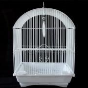 Max 300bí Klec bílá pro ptáky na papoušky 340 x 280 x 450 mm