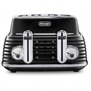 DeLonghi CTZ4003.BK Scultura 4 Slice Toaster - Black