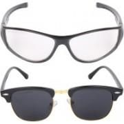Criba Spectacle , Retro Square Sunglasses(Black, Clear)