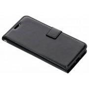 Zwarte luxe leder booktype hoes voor de Xiaomi Mi A2 Lite