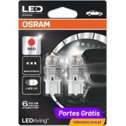 Osram LED Ledriving W21W Vermelho / RED - Premium ( 2 lâmpadas )