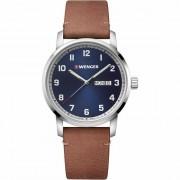 Wenger Avenue Reloj de cuarzo acero inoxidable blue-brown