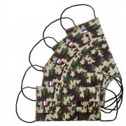 MASQUES DIRECT 5 Masques pour enfants 3 plis en tissu lavable réutilisable camouflage