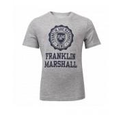 FRANKLIN AND MARSHALL Logo Tee Vintage Grey