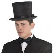 Amscan Party Supplies Deluxe Black Top Hat Head Wear/Gear (2 Piece), Multicolor, 10 3/4 X 11 7