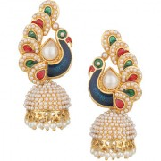 Pourni exclusive Peacock Shapped Jhumka Earring -DSER07