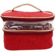Bagaholics 2 Zip Pockets Multifunction Beauty Travel Multipurpose Cosmetic Bag Organizer Case Makeup Make up Wash Pouch Toiletry Bag Travel Toiletry Kit(Maroon)