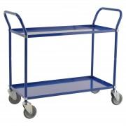 Kongamek Etagenwagen mit 2 Böden 900x440mm in Blau ohne Bremse