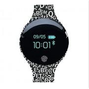 KQHSM Recargable Inteligente Reloj de Estudiantes Masculinos y Femeninos Deportes Disco Running Pulsera Impermeable podómetro Multifuncional Bluetooth (Color : B)