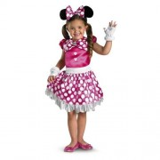 Disguise Disney Mickey Mouse Clubhouse Pink Minnie Shimmer Girls Costume, Medium/7-8