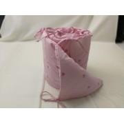 Set protectii patut 60 x 120 cm pentru fetite roz