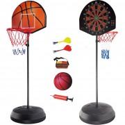 Баскетболно табло с кош и дартс за деца