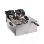 Friteuza dubla Tristar FR-6937, 2x3L, 2x1800W, termostat dublu, inox