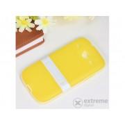 Husă din plastic Gigapack pentru Samsung Galaxy Core (GT-I8260), galben-alb (conform producătorului)