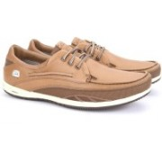Clarks Orson Lace Tan Leather Casual Shoes For Men(Tan)