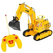 Best Choice Products 7 Channel Full Functional Rc Excavator, Battery Powered Electric Remote Control Construction Tractor With Lights & Sound