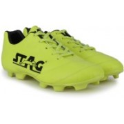 Stag Kross Football Shoes For Men(Black, Green)
