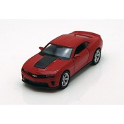 """Chevy Camaro Zl1, Red Welly 43667 4.5"""" Long Diecast Model Toy Car"""