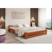 Expedo + R/ Pat din lemn masiv HERA + saltea sandwich MORAVIA + somieră, 140 x 200 cm, anin-lac