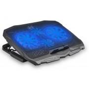 Dissipatore USB 4 Ventole per Notebook Illuminazione LED Blu