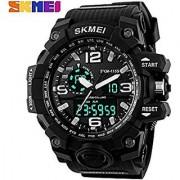 Skmei SKMEI-1155 Analogue-Digital Black Dial Men's Watch