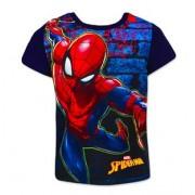Tricou cu maneci albastre Spiderman marime 128
