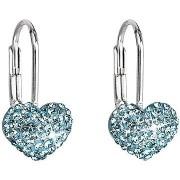 Aqua Swarovski kristályokkal díszített fülbevaló 31125,3 (925/1000; 1,4 g)