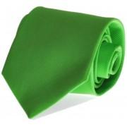 Krawatte Seide Apfelgrün Uni F33 - Grün