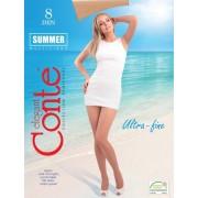 Ciorapi subtiri rezistenti multifibra fara intarituri Conte Summer 8 den
