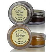 Khadi Lip Balm (Combo Pack CHOCOLATE PEACH Lip Balm)
