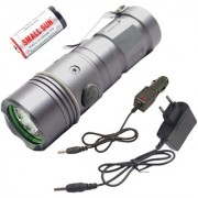 3 Mode 5W 600 LM Waterproof Mini LED Flashlight Torch Outdoor Lamp Torch Light Black(Pack of 1)