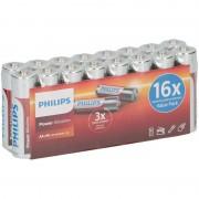 Philips 16x Philips power alkaline AA batterijen