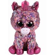 Jucarie de plus TY 24 cm - Unicorn roz cu paiete