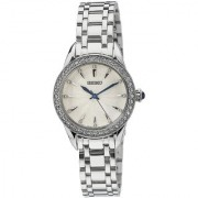 Seiko Analog White Round Women's Watch-SRZ385P1