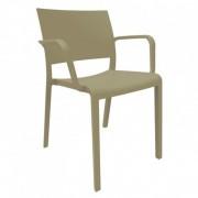 Resol - Conjunto de 2 cadeiras com braços cor de chocolate NEW FIONA - RESOL