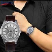 Hot Selling 2017 1PC Fashion New Men Leather Stainless Steel Dial Quartz Wrist Watch masculino relogio feminino Levert Dropship