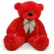 Omex 5 Feet BIG Stuffed Spongy Teddy Bear Cuddles Soft Toy For Girls 152 Cm - Red