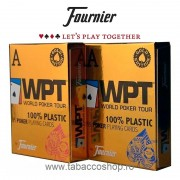 Carti de joc Fournier 100% Plastic WPT Gold Edition