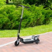 HomCom® Trotinete Eléctrico Tipo Scooter com Guiador Ajustável – Cor Preto - 81.5x37x96cm
