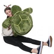 MorisMos Giant Big Plush Eyes Sea Turtle Stuffed Animal Pillow Plush Tortoise Toys for Baby Girlfriend 25 inches