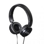 Слушалки Thomson HED2215BK, микрофон, 40мм говорители, бутон за разговори, черни