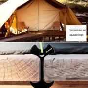 Tablon Cubierta Camping Hueso De Pescado Clavo, Clavo De Aluminio Tenks Viento Cuerda Cadena De Ancla (negro)