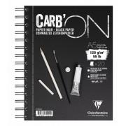 Clairfontaine CarbON zwart papier A5 spiraal 120 gram