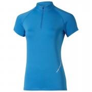 Asics Women's Half Zip Shorts Sleeve Running Top - Jeans Blue - L - Blue