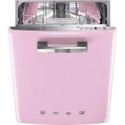 SMEG ST2FABPK2 kezelőszervig beépíthető retro mosogatógép - rózsaszín